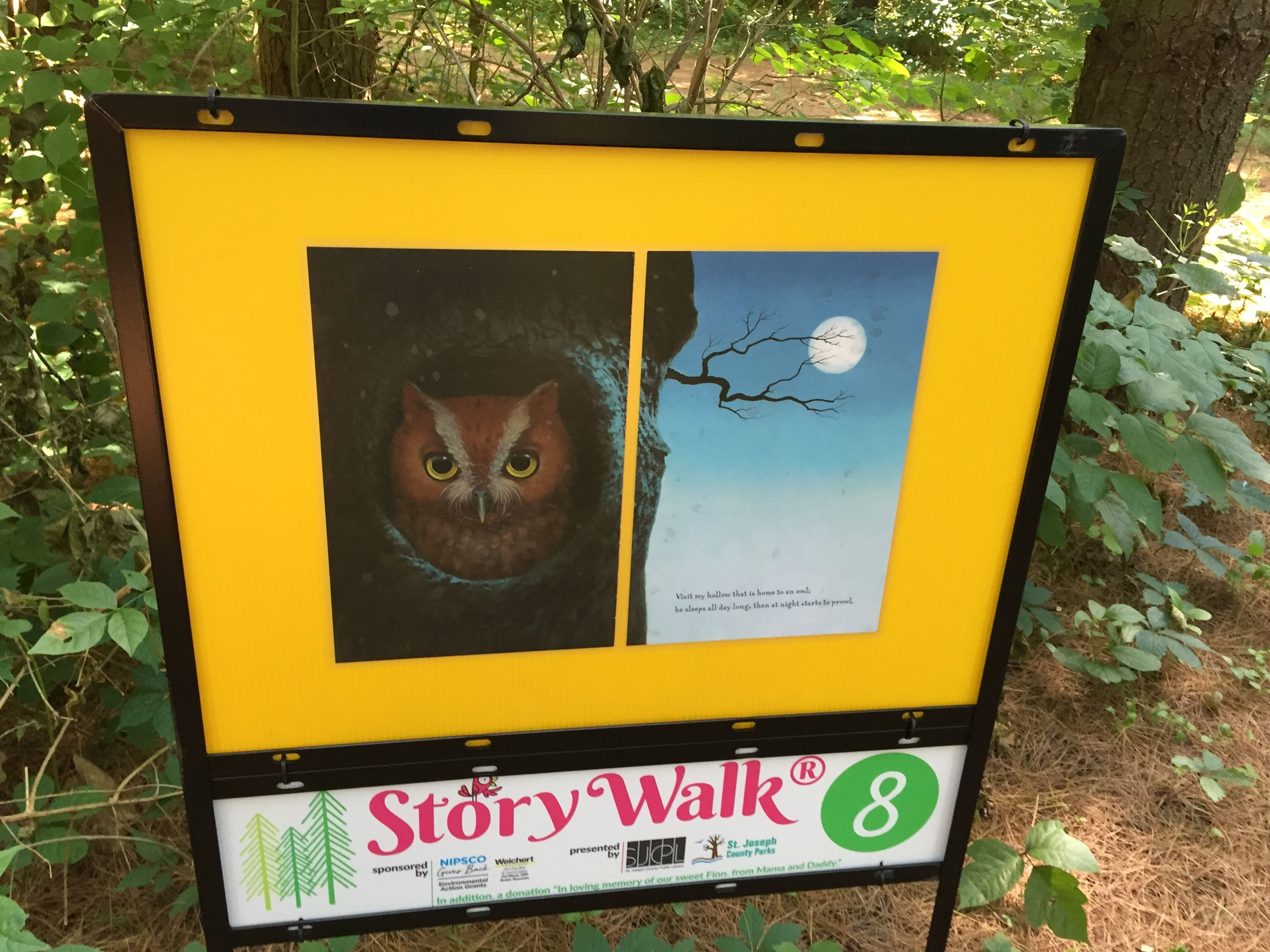 Story page along the walk