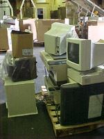 Old computer monitors at the Household Hazardous Waste facility